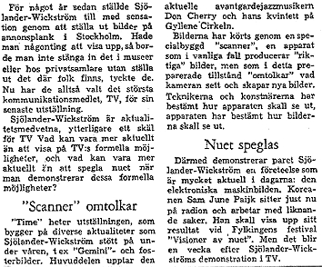 PRESS CUTTING FROM DAGENS NYHETER AUGUST 1966